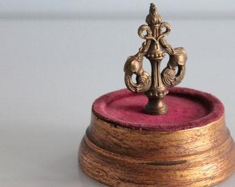 Antique gold brass furniture ornament, Decorative spike, screw, furniture decoration, furnishing for furniture, 1606