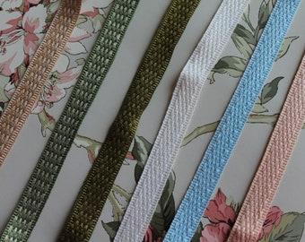 HOULES Paris furniture braid, braid braid, medieval braid, border for lampshade, French braid, 2743