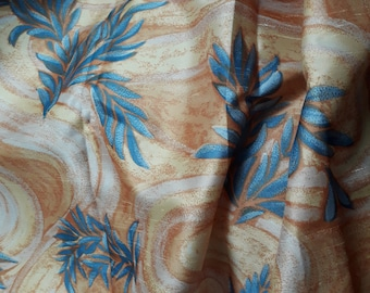New yellow and blue upholstery fabric with foliage, cushion fabric, yellow curtain fabric, 3044