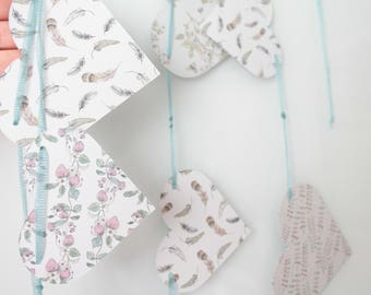 20 large hearts of 11 x 13.5 cm for creative leisure, textile arts, scrapbooking, table decoration, wedding garland, 1024