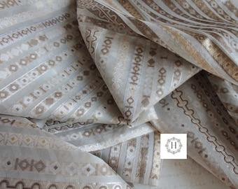 Upholstery Fabric for Curtain, Geometric Fabric, Luxury Fabric, Silk Fabric,  TIS191795
