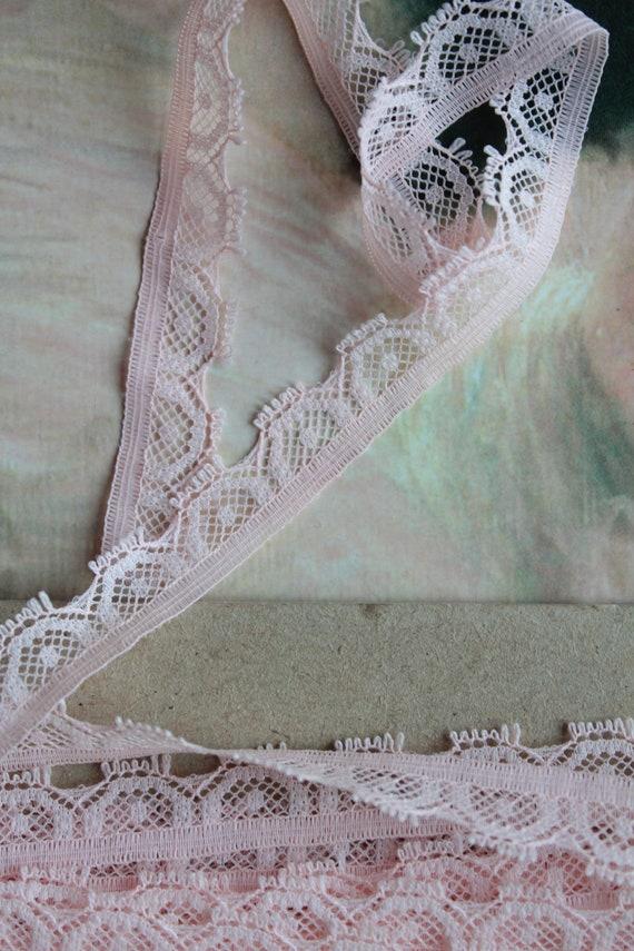 Dentelle ml, rose de lingerie fine, de longueur 6 ml, Dentelle 6.56y, largeur 1.4 cm, galon vintage de dentelle rose clair, ref43 c683c9