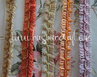 Fringed furnishing trim, braid sold by the 1.09y meter, 100% dralon, made in France, 3005