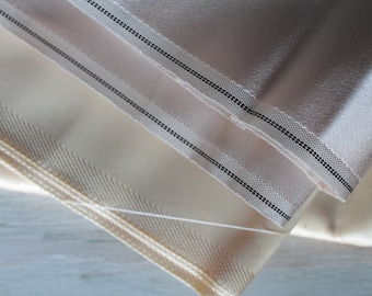 Thick lining fabric, 3 m, 3 yards, vintage French fabric, beige lining for jacket, cream lining, 2555