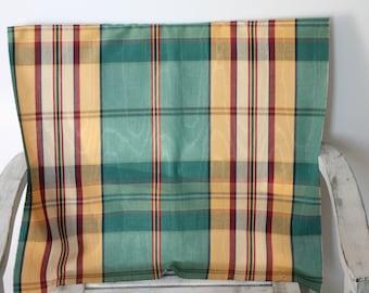 Scottish fabric in 100% viscose, vintage, Brand URGE, LUCCA, Bordeaux 96, 53 x 57 cm, 343