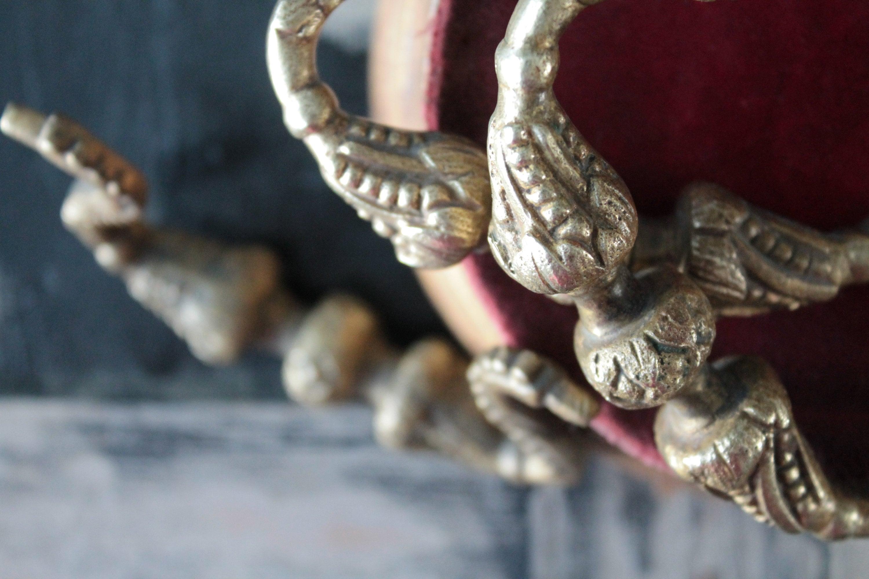 Old bronze furniture handles, drawer handle, antique hardware, art ironwork, 2238