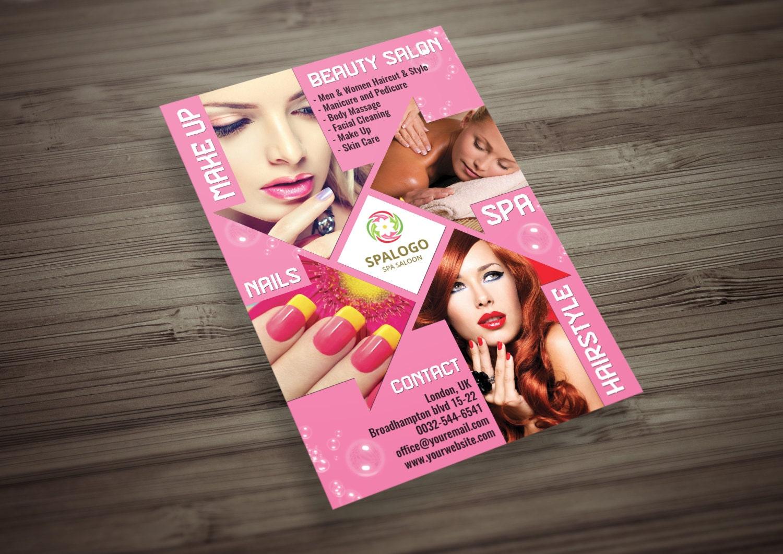 Cabello y salón de belleza Flyer plantilla PSD