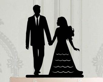 Caketopper Tortenfigur XL neu MR MRS schwarz  Hochzeit  Braut Bräutigam  WEDDING