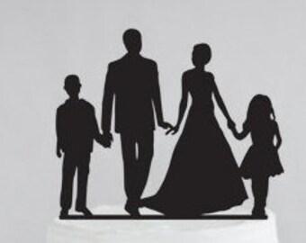 Wedding Cake Topper, Family Cake Topper, Bride Groom Cake Topper, Wedding Cake Decor, Cake Topper, Custom Cake Topper, Bridal Cake Topper