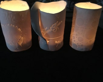Porcelain tea lights