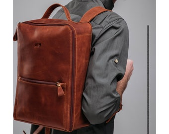 Leather backpack women,Leather backpack brown,Backpack leather,Travel backpack,Cognac leather backpack,Women's rucksack,Leather rucksack