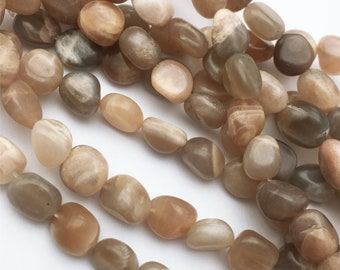 Sunstone Tumble Shape Smooth Nugget Beads 6x10.MM Approx 14 Inches Wholesaler Price.