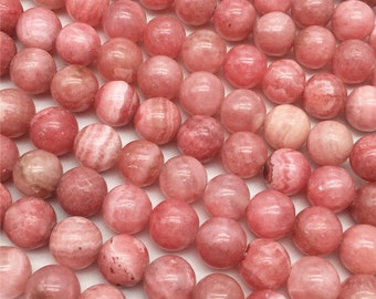 1Full Strand Red Rhodochrosite Round Beads,6mm 8mm 10mm Wholesale Gemstone For Jewelry Making