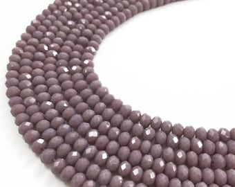 1Full Strand 4*3mm Crystal Rondelle Beads,Crystal  Glass Beads For Jewelry Making