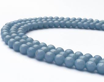 1Full Strand Angelite Round Beads,8mm 10mm Angelite Gemstone For Jewelry Making