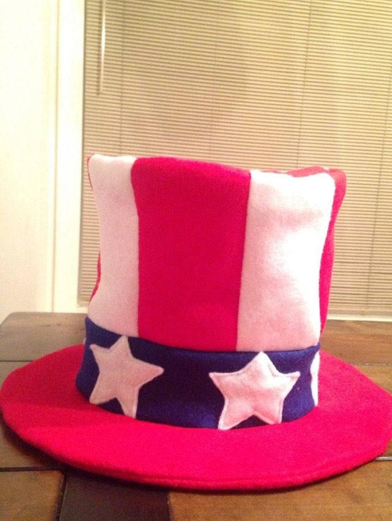 Uncle Sam Hat Handmade Felt Patriotic Fourth of July