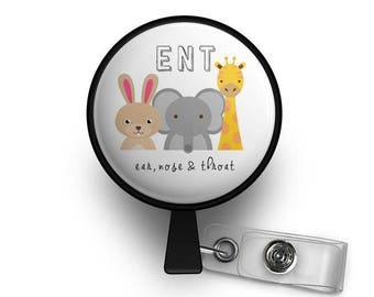 ENT Animal Retractable ID Badge Reel