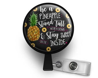 Be A Pineapple Retractable ID Badge Reel
