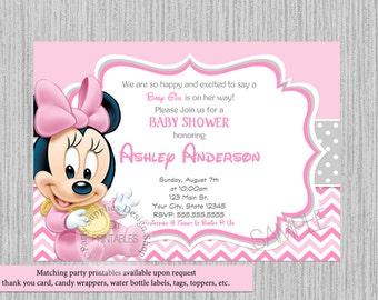 Minnie baby shower etsy cute baby minnie baby shower invitations minnie baby shower invitations baby minnie baby shower chevron invitations cute minnie mouse filmwisefo