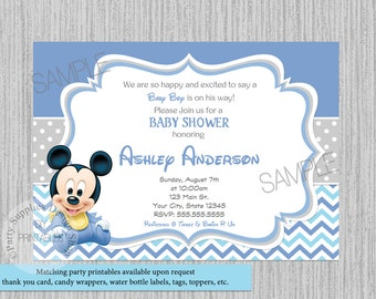 Mickey mouse baby shower invitations etsy printed or digital cute baby mickey baby shower invitations mickey mouse baby shower invitations baby mickey baby shower supplies filmwisefo