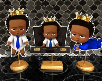 Double Sided Afro American Blue Royal Prince Boss Baby Etsy
