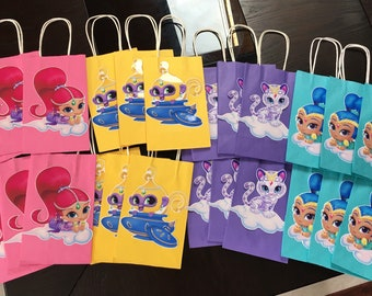 Shimmer And Shine Goodie Bags Birthday Party Favors Supplies Handmade Tala Nahal