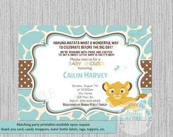 Lion king baby shower invitation etsy lion king simba baby shower invitations simba baby shower invitations its boy baby shower invitations print your own printable invite filmwisefo