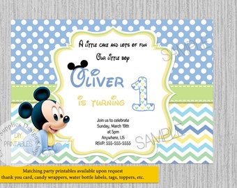 cute baby mickey mouse birthday invitations baby 1st birthday party invitations diy printable baby mickey party supplies invitations