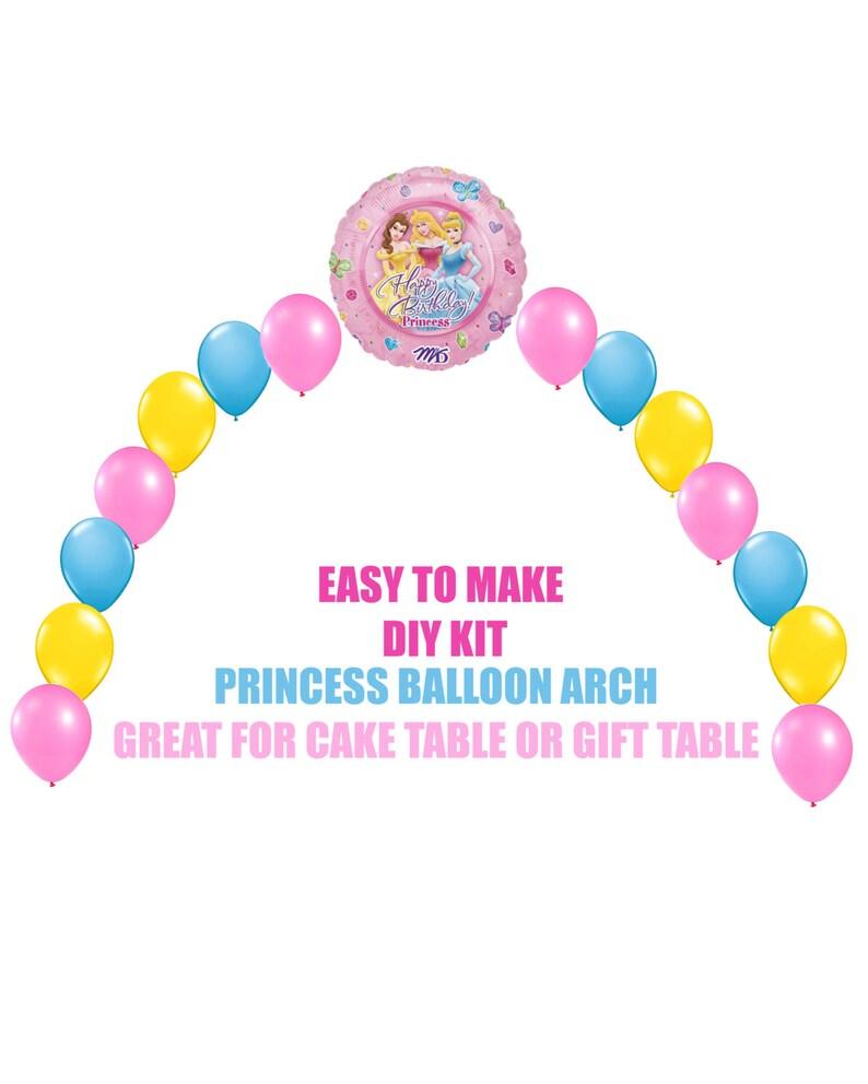 Disney Princess Birthday Balloons Arch Balloon Party