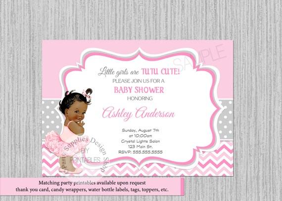 Tutu ballerina baby shower invitations ballerina baby shower etsy image 0 filmwisefo