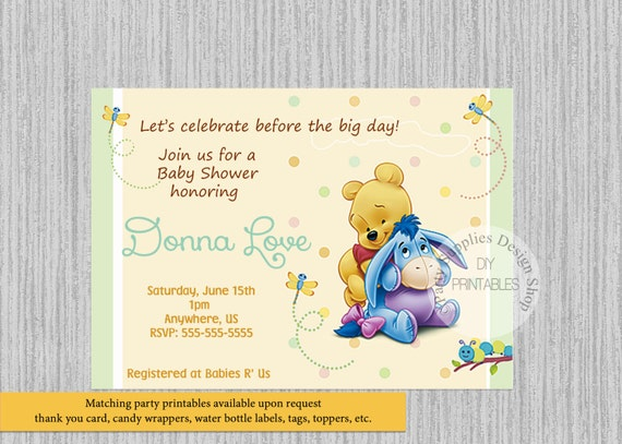 Baby winnie the pooh baby shower invitations winnie the pooh etsy image 0 filmwisefo