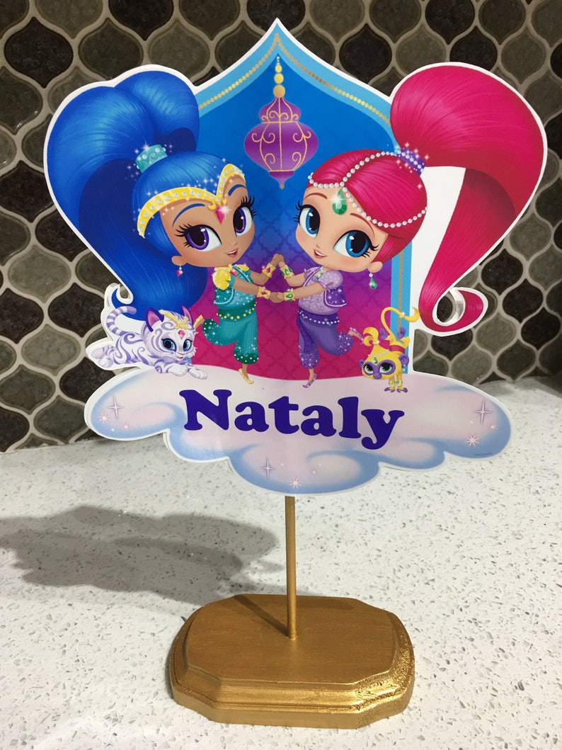 Shimmer And Shine Birthday Table Centerpieces Party Favors Decorations Supplies