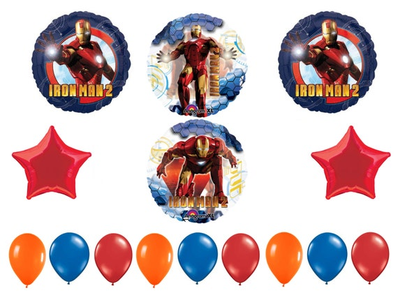 FAST SHIP Iron Man Birthday Balloons Bouquet Party