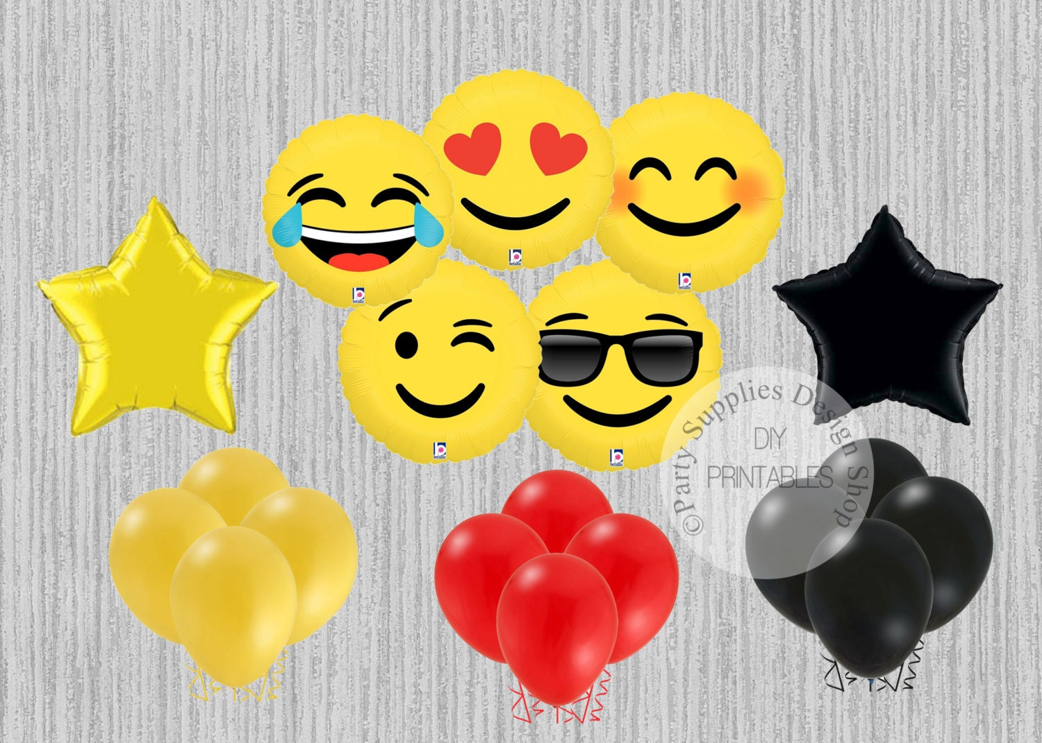 FAST SHIP Emoji Balloons LOL Love