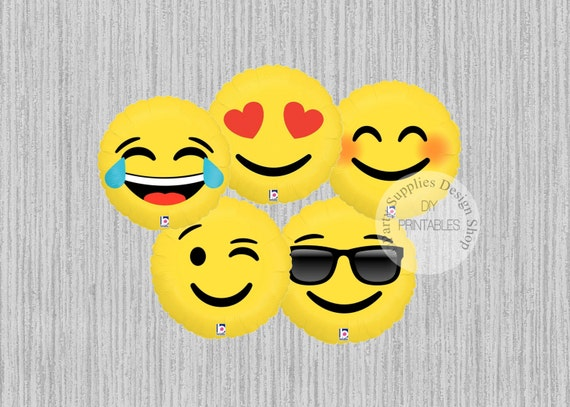FAST SHIP 18inch Emoji Balloons LOL Love