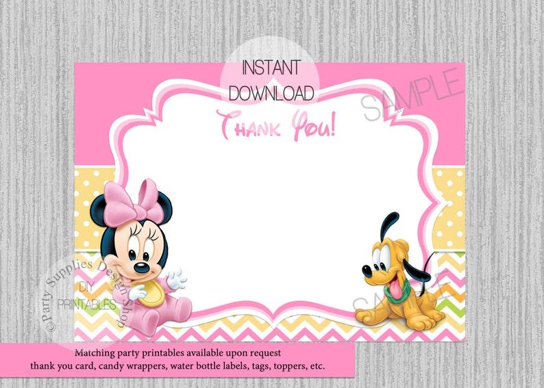 Disney Baby Minnie Baby Shower Invitations Minnie Baby Shower Etsy