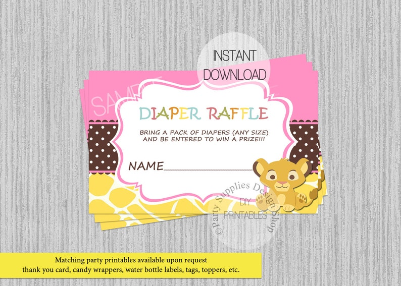 df5f253a53 Baby Simba Lion King Baby Dusche Windel lose INSTANT   Etsy