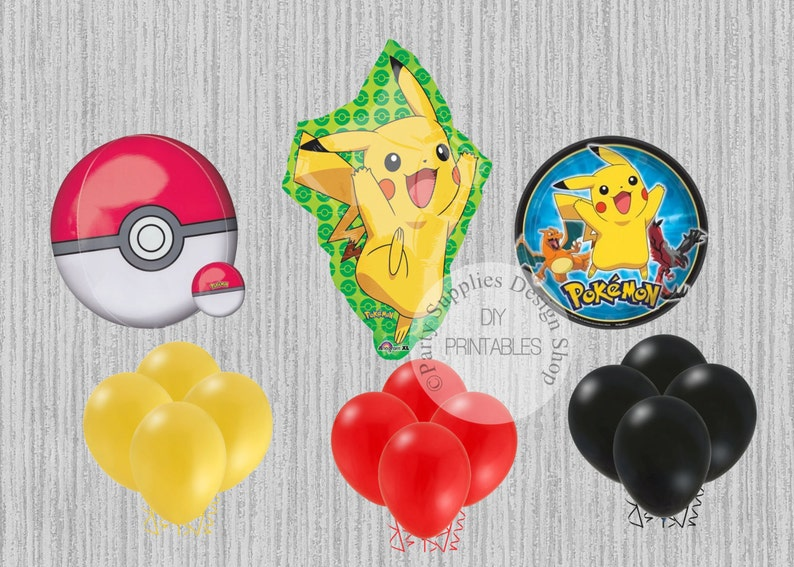 "XL 31/"" Pikachu Pokemon Super Shape Mylar Foil Balloon Birthday Party Decoration"