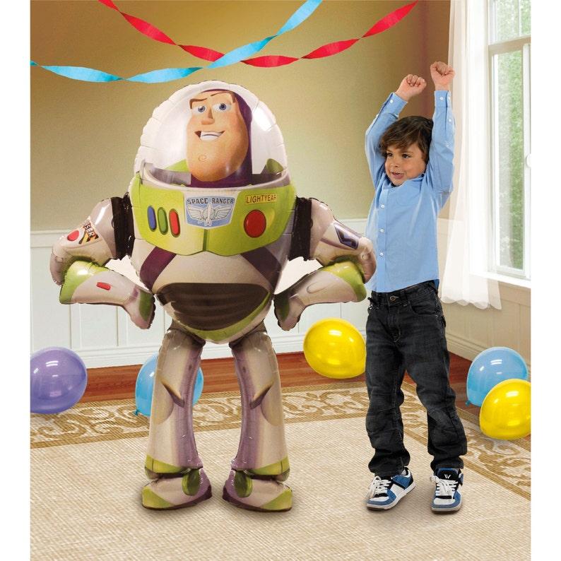 Toy Story BUZZ LIGHTYEAR Airwalker Jumbo Birthday Balloon Buzz Lightyear Party Balloons Toy Story Birthday Decorations Mylar Balloon