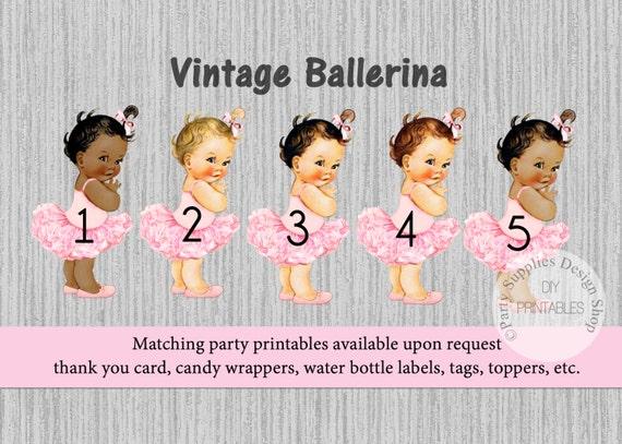 Tutu Ballerina Baby Shower Invitations