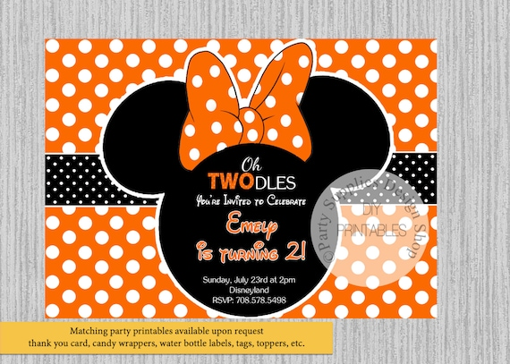 HALLOWEEN Minnie Mouse Birthday Invitations DIY Printable