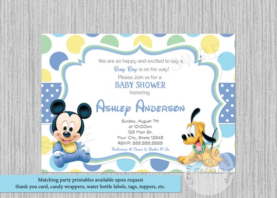 Baby mickey mouse baby shower invitations mickey baby shower etsy image 0 filmwisefo