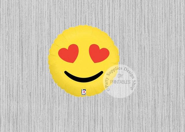 FAST SHIP 18inch Emoji LOVE Balloons Birthday
