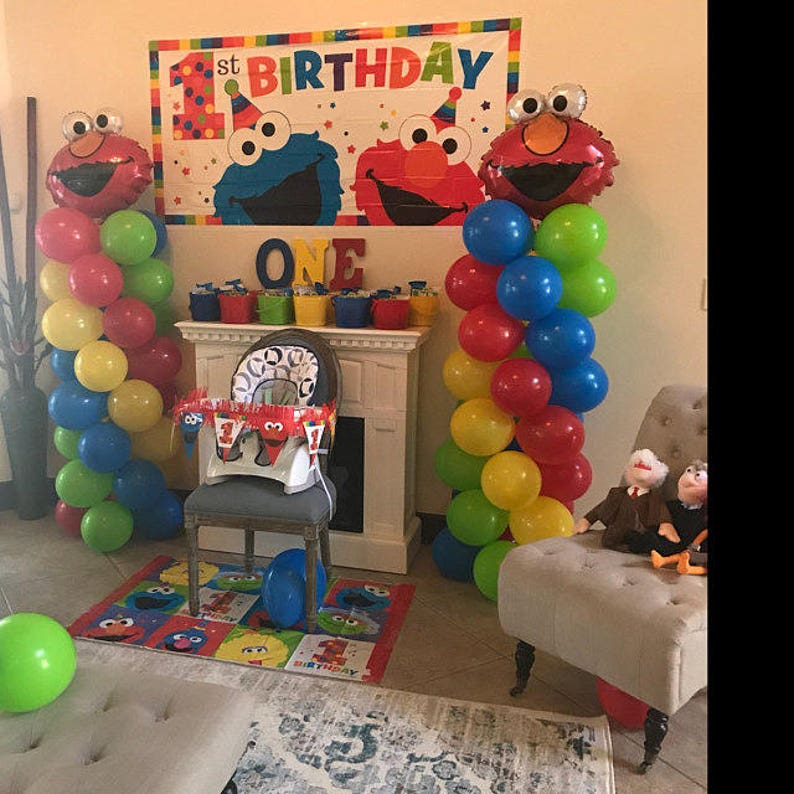 ELMO Sesame Street Birthday Balloons Elmo Party Decorations