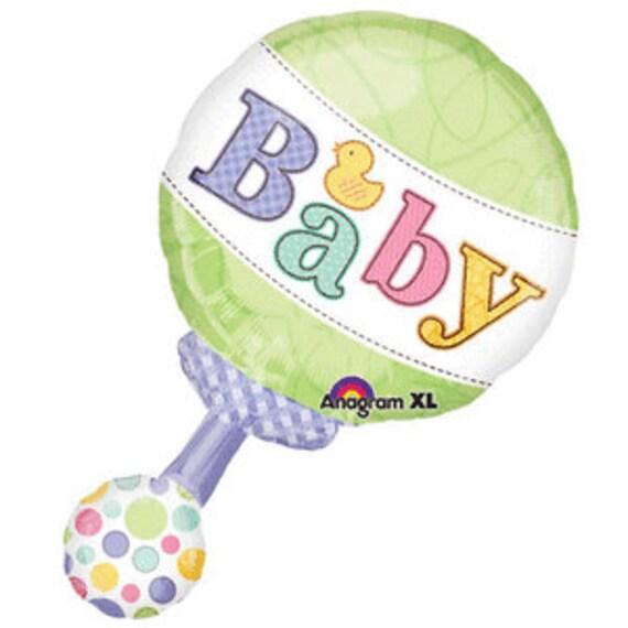 Globo Foil-Su una muchacha Sonajero Bebé