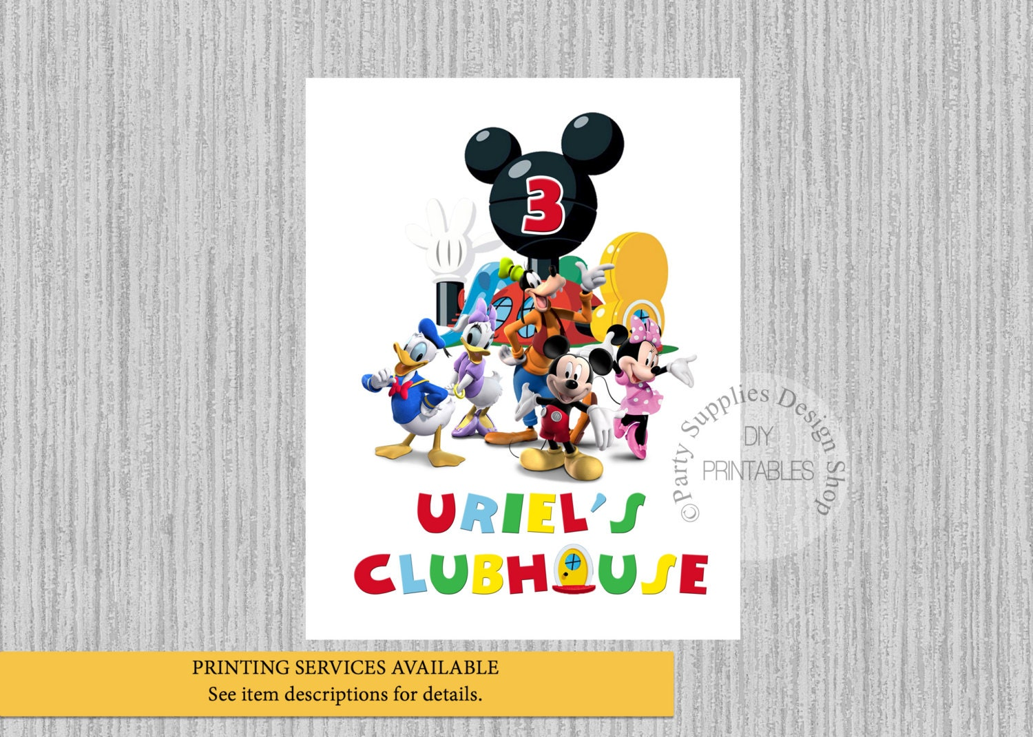 personalized with age. Minnie Mouse Clubhouse Birthday sign