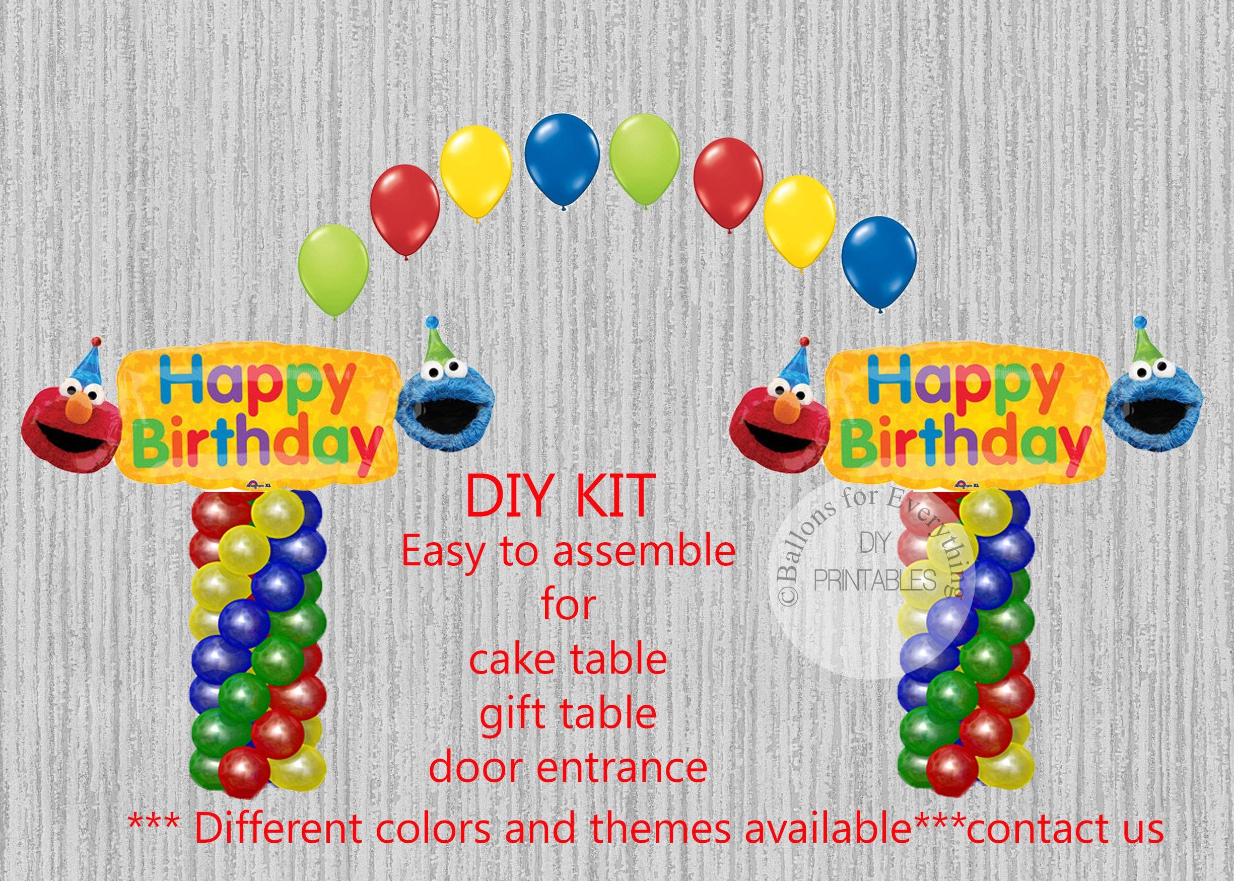 Sesame Street Birthday Balloons Elmo Cookie Monster Balloons   Etsy