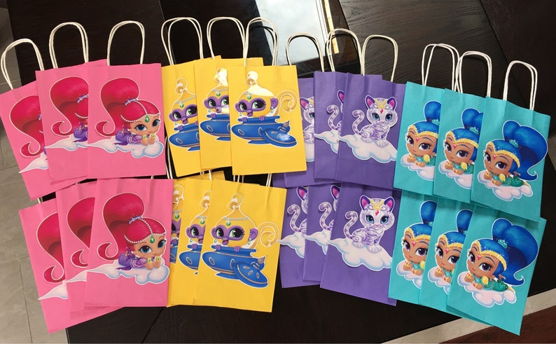 Shimmer And Shine Goodie Bags Birthday