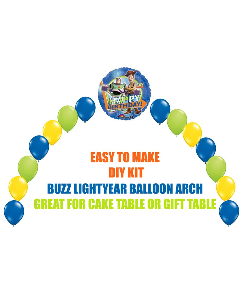 Incredible Toy Story Buzz Lightyear Woody Birthday Balloons Toy Story Arch Balloon Party Decor Cake Table Gift Table Diy Kit Easy To Assemble Decor Download Free Architecture Designs Scobabritishbridgeorg