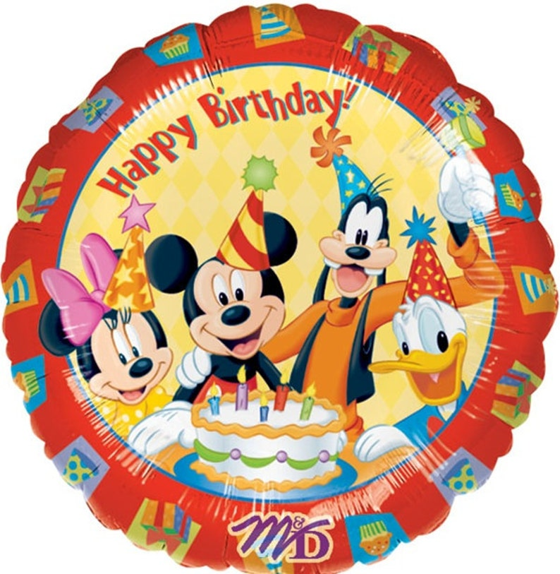 FAST SHIP TWO Mickey Mouse Birthday Balloons Disney